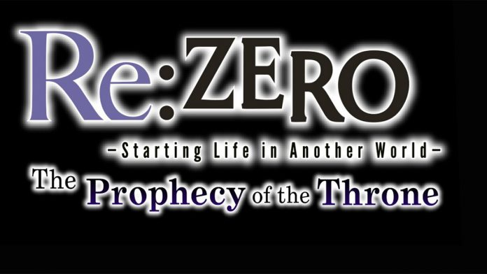 Re ZERO The Prophecy of the Throne llegará a Switch y PlayStation 4