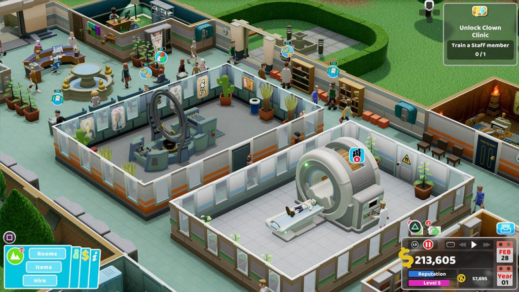 Two Point Hospital ya tiene disponible el Modo Sandbox en consolas de manera gratuita