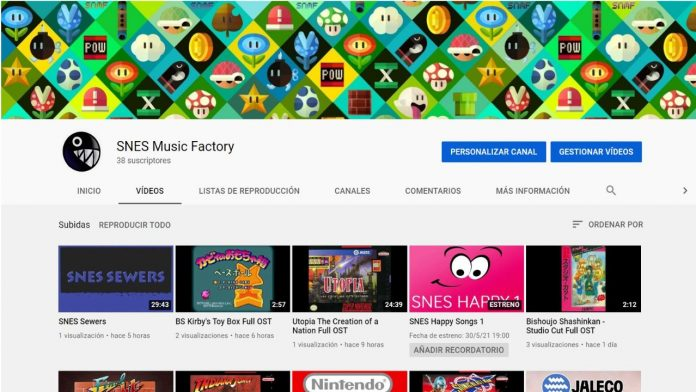 SNES Music Factory Youtube